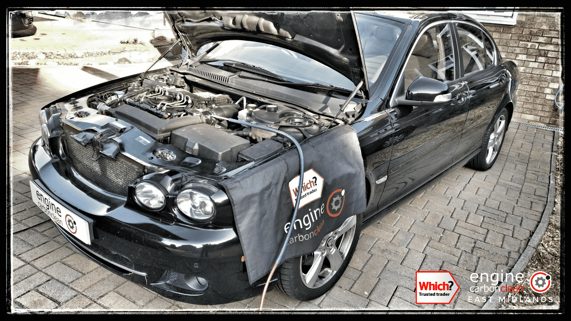 Engine Carbon Clean on a Jaguar X-Type 2.2 Diesel (2009 - 161,142 miles)
