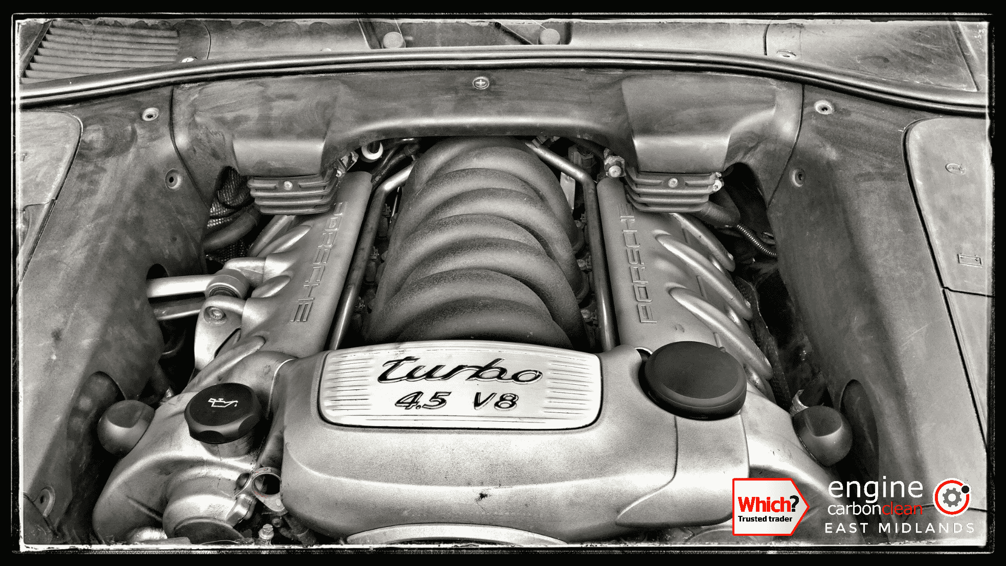 Lack of cooling meant this engine bay was hot! Porsche Cayenne Turbo (2006) - 132,381 miles