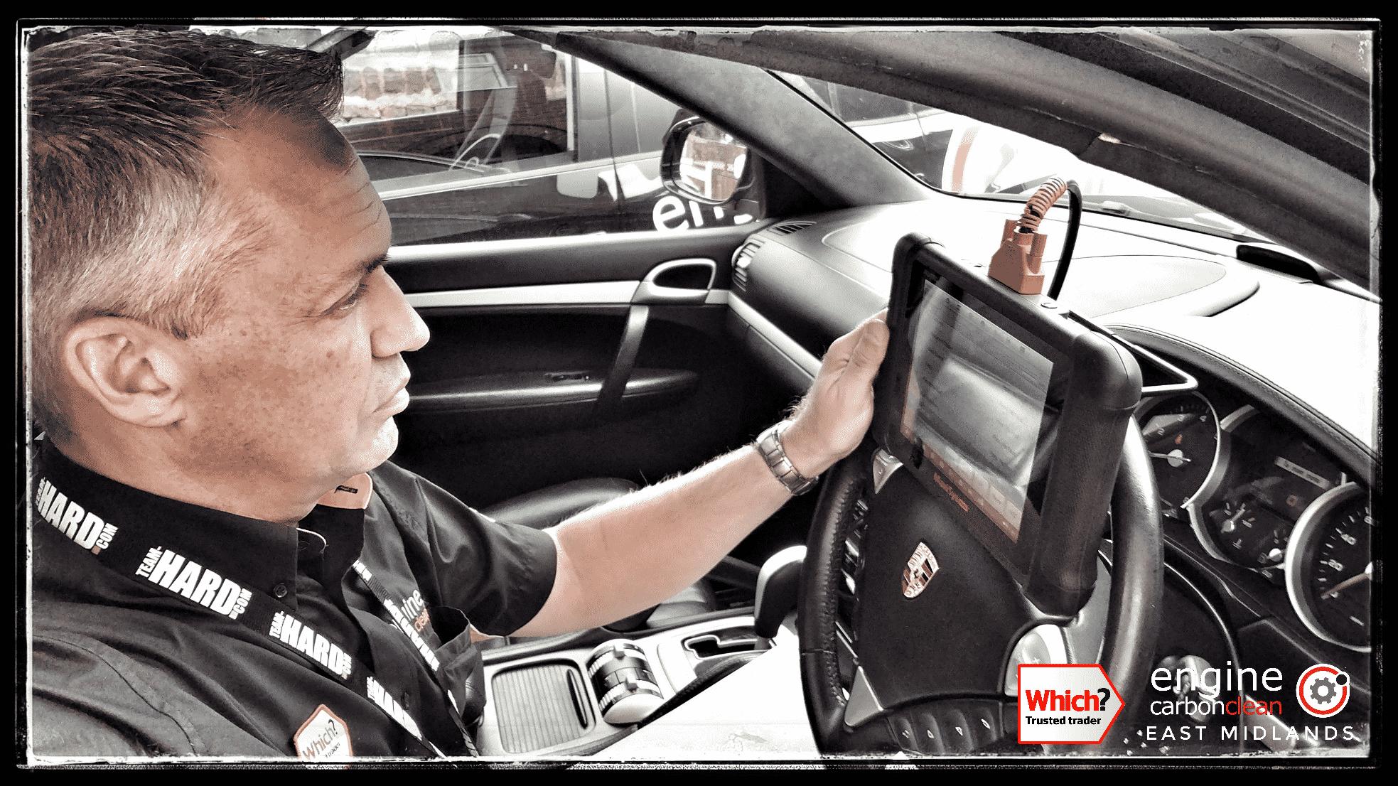 Adrian performing the diagnostics on this Porsche Cayenne Turbo (2006) - 132,381 miles