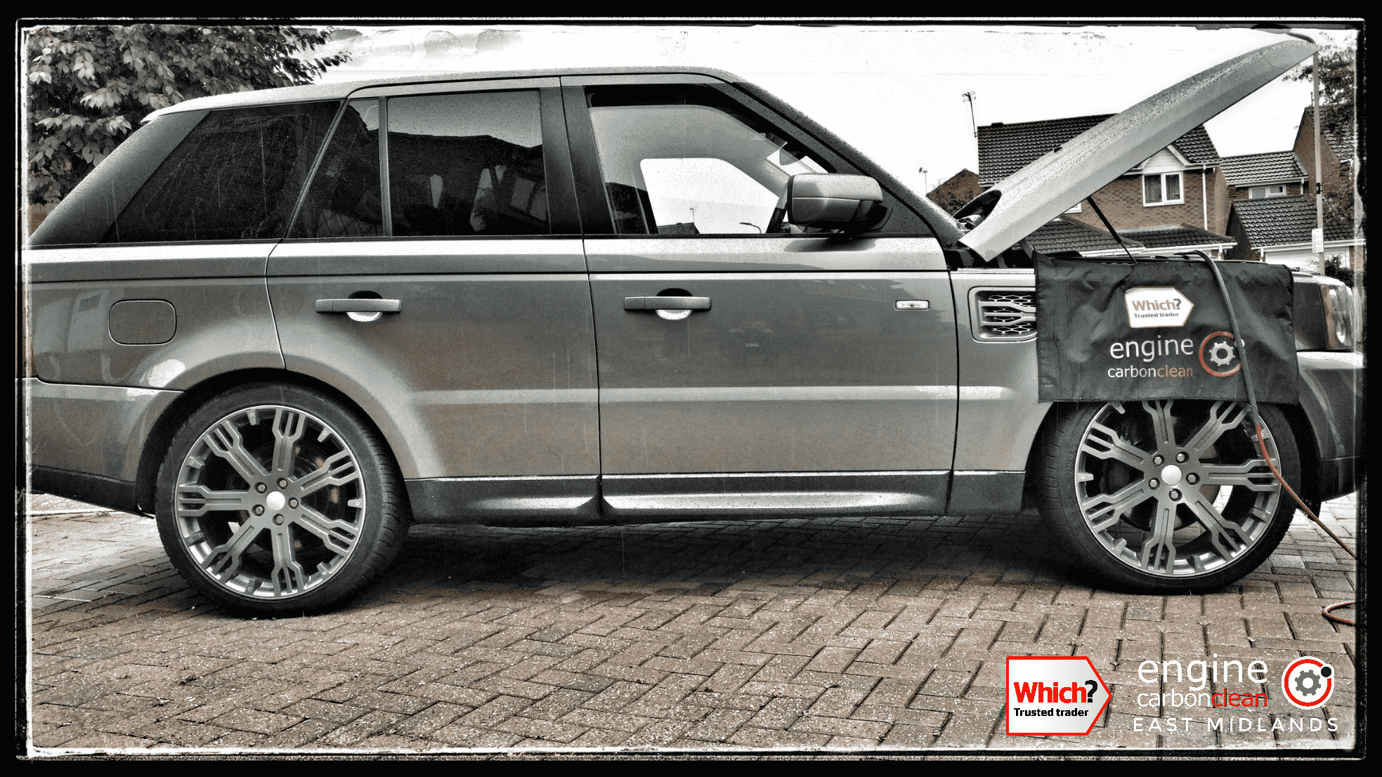 Engine Carbon Clean on a Range Rover Sport 2.7 (2008 - 70,186)