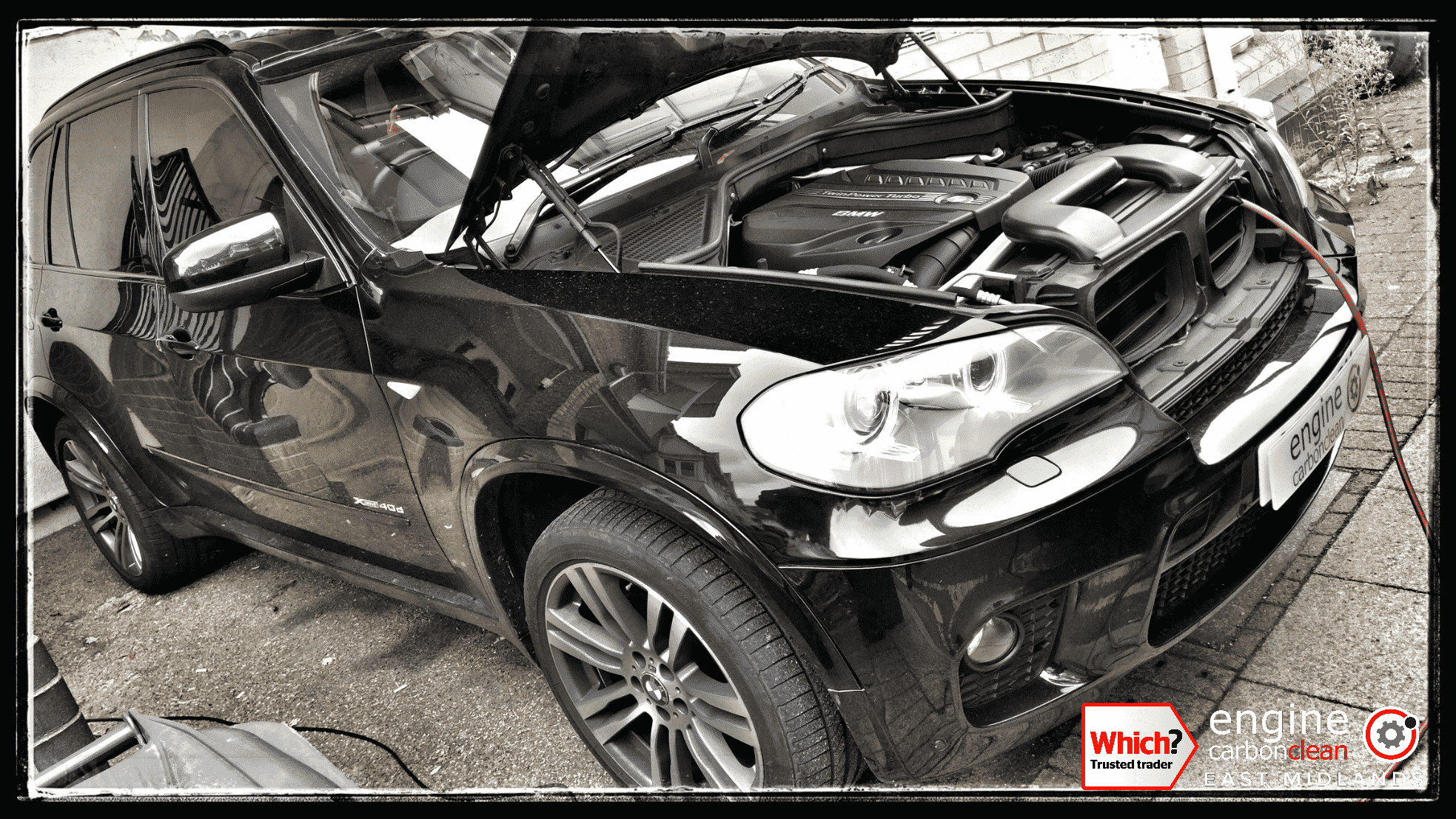 Engine Carbon Clean on a BMW X5 (2011 - 66,227 miles)