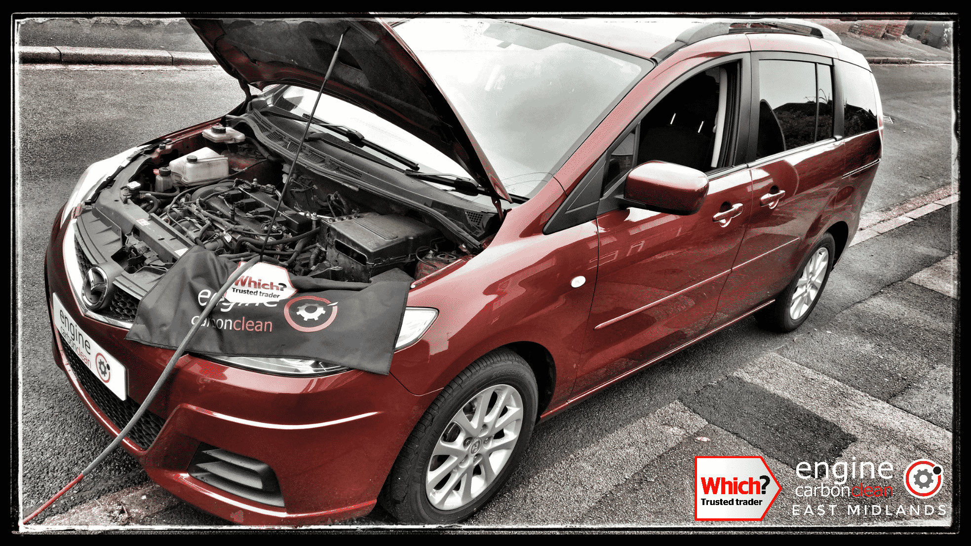 Engine Carbon Clean on a Mazda 5 1.8 petrol (2009 - 111,687 miles)