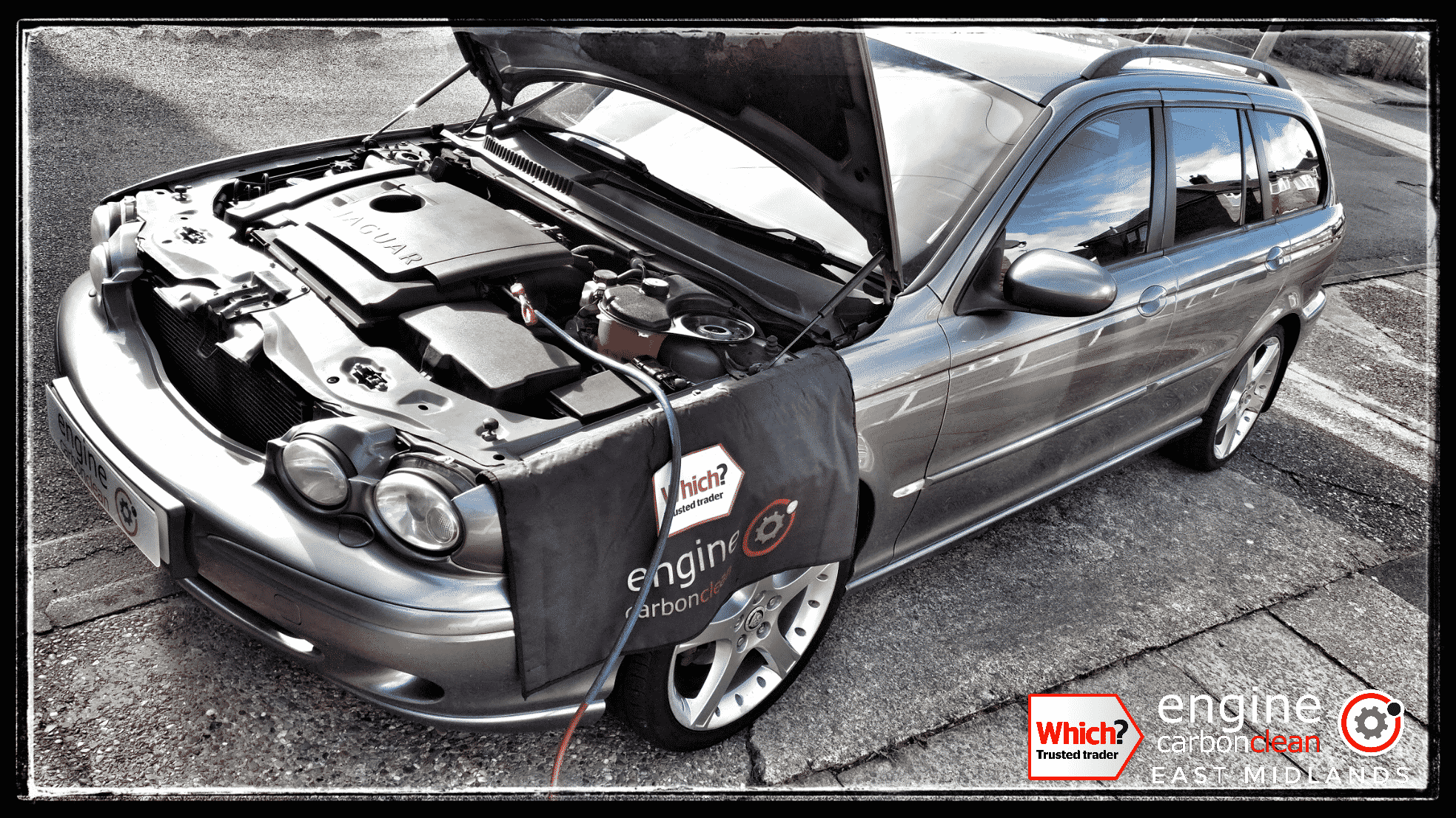 Engine Carbon Clean on a Jaguar X-Type 2.2 diesel (2006 - 200,683 miles)