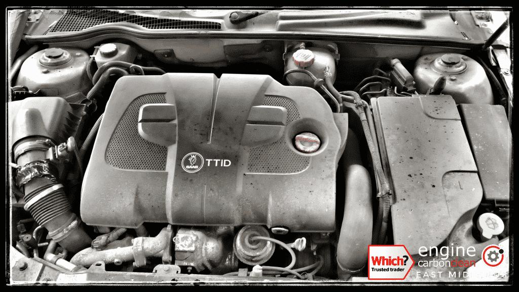 Engine Carbon Clean on a Saab 9-3 1.9 diesel (2008 - 147,591 miles)