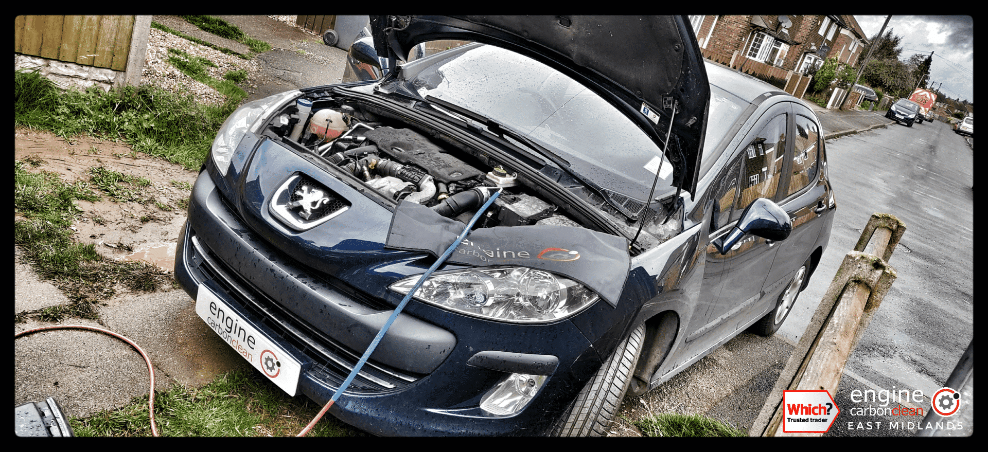 Diagnostic Consultation and Engine Carbon Clean on a Peugeot 308 1.6 HDi (2010 - 88,670 miles)