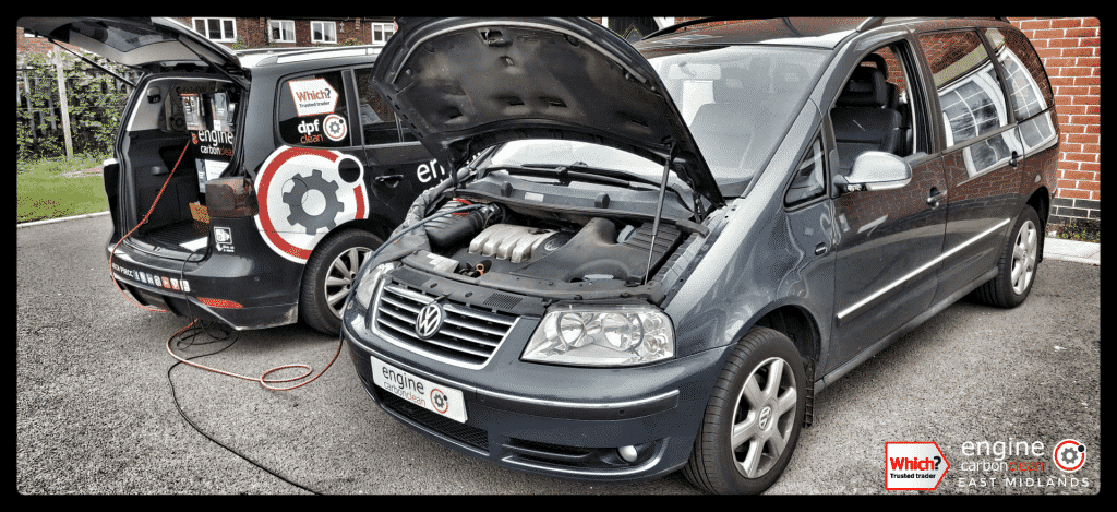 Diagnostic Consultation and Engine Carbon Clean on a VW Sharan 1.9 TDI (2005 - 118,237 miles)