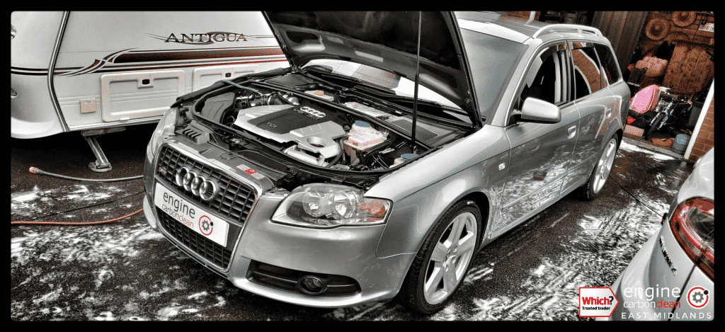 Diagnostic Consultation and Engine Carbon Clean on an Audi A4 3.0 TDI (2006 - 159,705 miles)