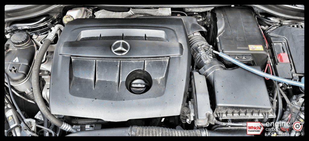 Diagnostic Consultation and Engine Carbon Clean on a Mercedes B180 (2015 - 47,089 miles)
