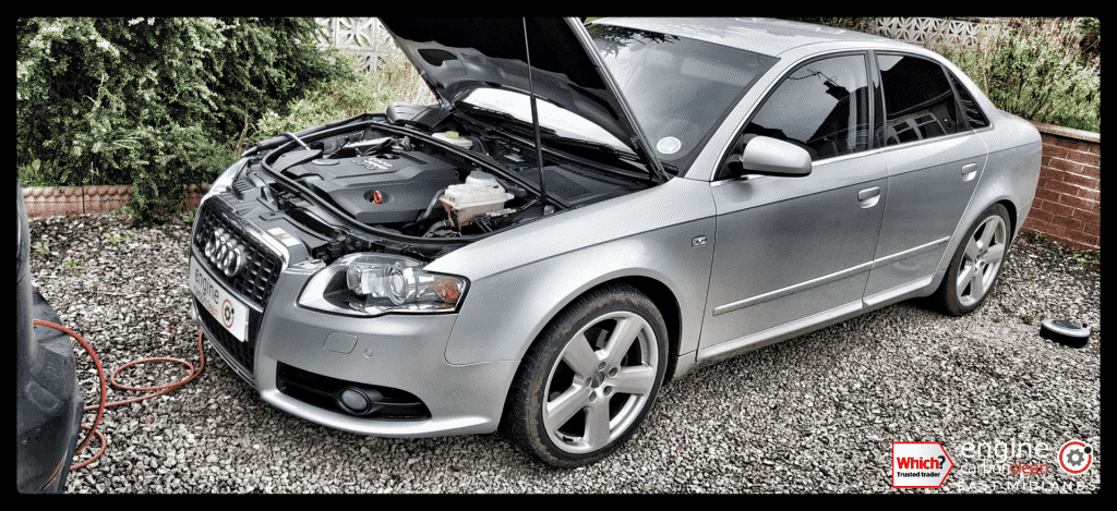 Diagnostic Consultation and Engine Carbon Clean on an Audi A4 2.0 TDI (2007 - 73,396 miles)