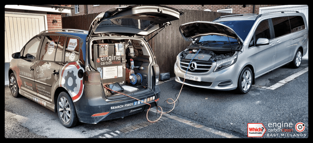 Diagnostic Consultation and Engine Carbon Clean on a Mercedes V220 (320,246 miles)