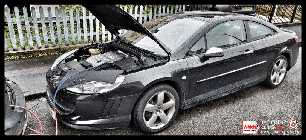 Diagnostic Consultation and Engine Carbon Clean - Peugeot 407 GT Coupé 3.0 (2006 - 79,497 miles)