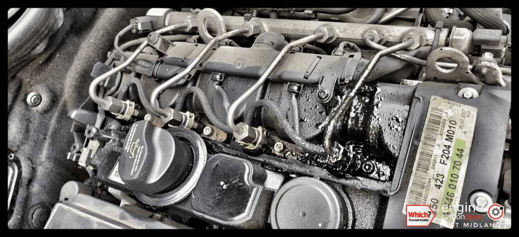 Leaking injectors on this Mercedes C220 (2008 - 148,837 miles) - no clean performed