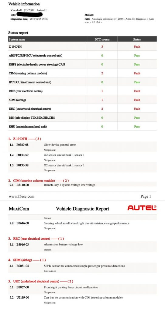 Failed MOT on emissions? Now PASSED - Vauxhall Astra 1.9 CDTi (2007 - 129,329 miles)
