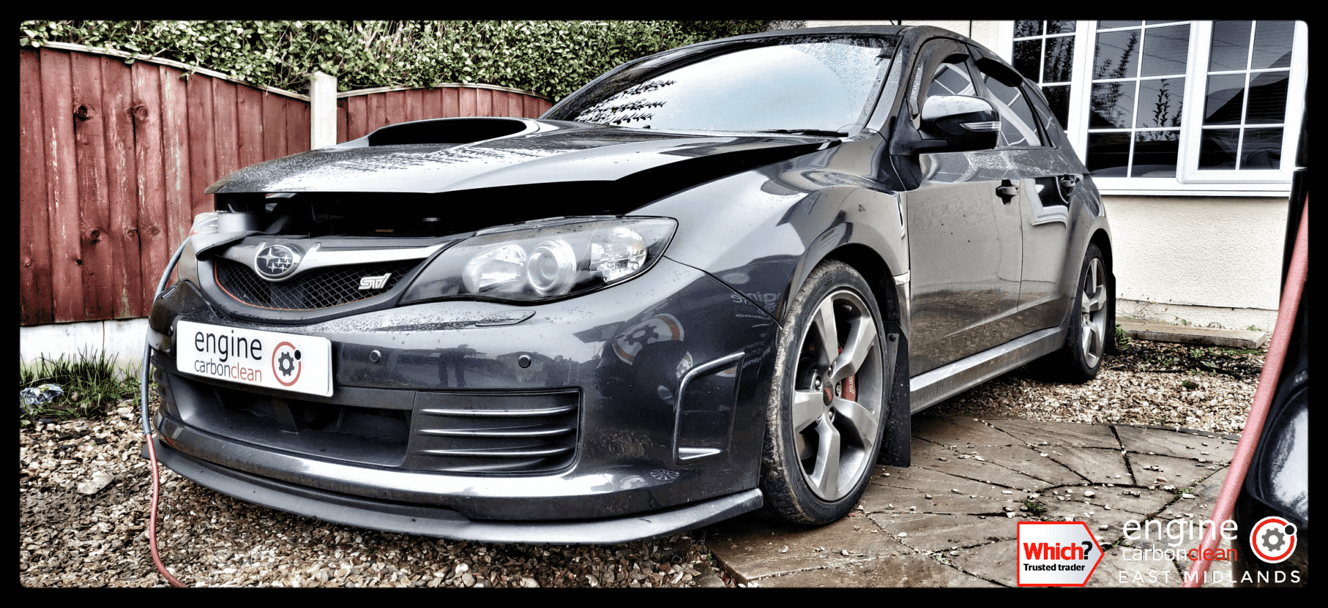 Diagnostic Consultation and Engine Carbon Clean on a Subaru WRX STI 330s (2009 - 45,709 miles)