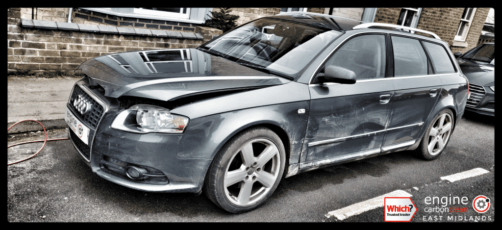 Diagnostic Consultation and Engine Carbon Clean on an Audi A4 2.0 TDI (2007 - 115,994 miles)