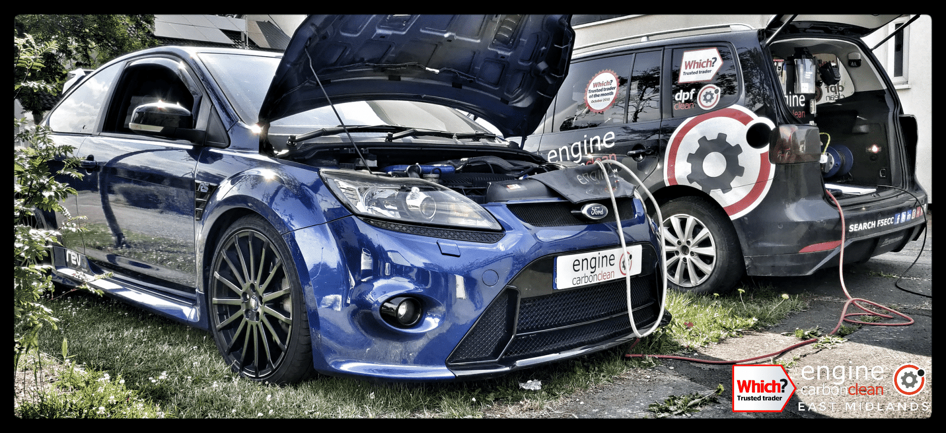 Diagnostic Consultation and Engine Carbon Clean on a Ford Focus RS (2009 - 33,038 miles)