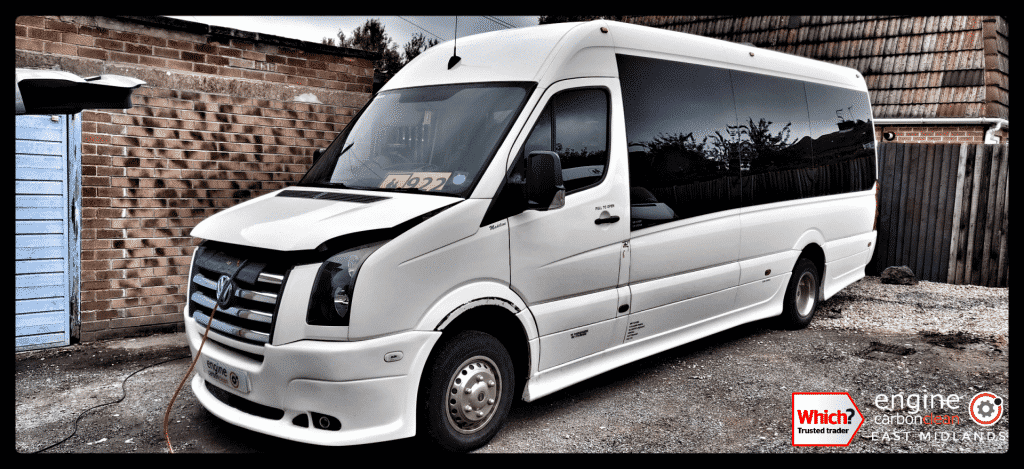 Diagnostic Consultation and Engine Carbon Clean on a VW Crafter 2.5 TDI (2009 - 261,960 miles)