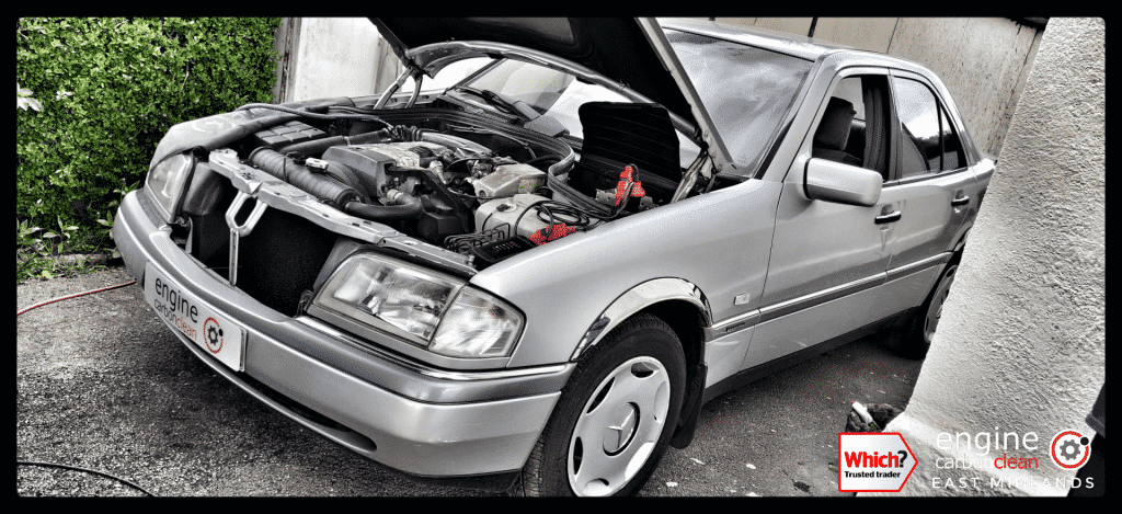Diagnostic Consultation and Engine Carbon Clean on a Mercedes C180 (1996 - 55,360 miles)
