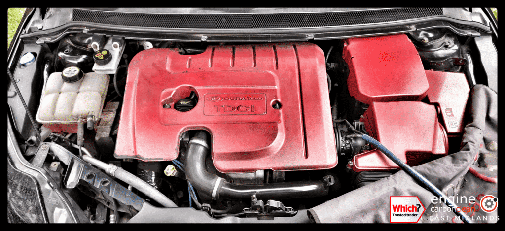 Diagnostic Consultation and Engine Carbon Clean on a Ford Focus 1.6 TDCI (2010 - 87,946 miles)