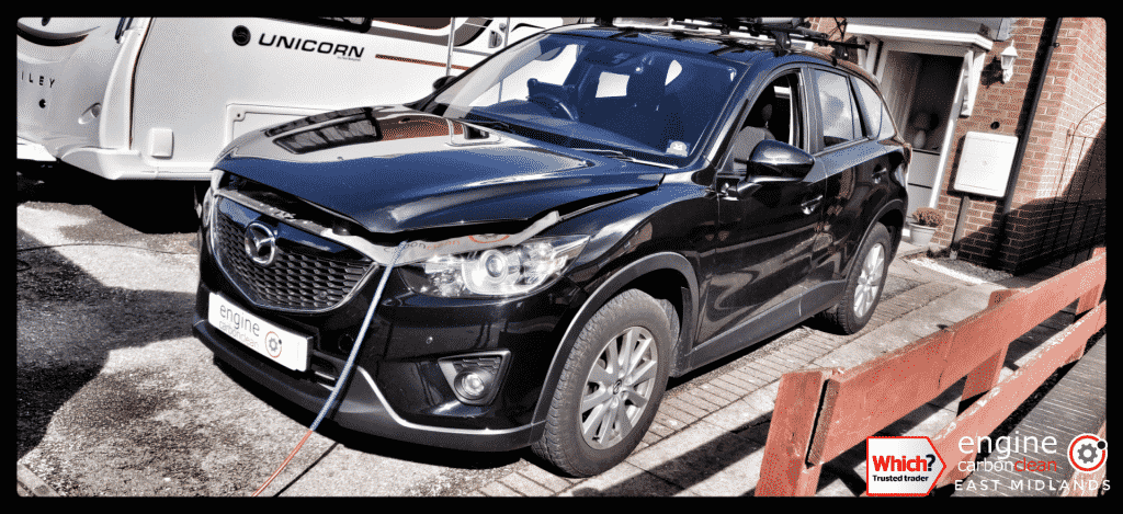 Diagnostic Consultation and Engine Carbon Clean on a Mazda CX-5 2.2 diesel (2013 - 74,630 miles)